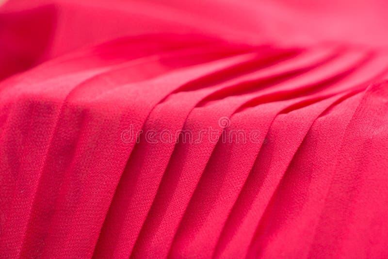 Красная предпосылка ткани pleat стоковое изображение rf