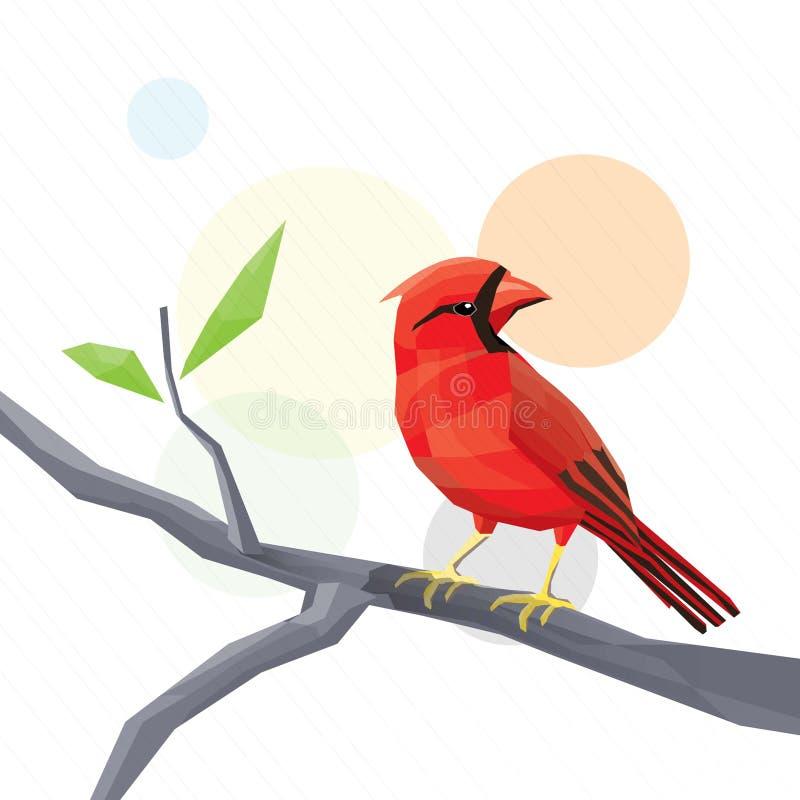 Красная птица стоковая фотография rf
