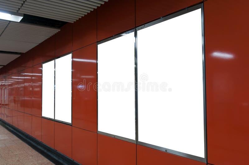 Красная пустая афиша стоковое изображение rf
