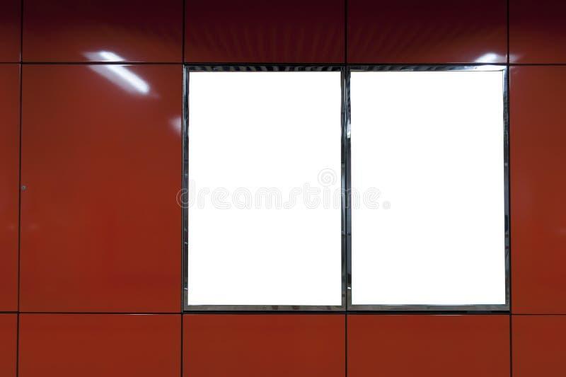 Красная пустая афиша стоковое изображение
