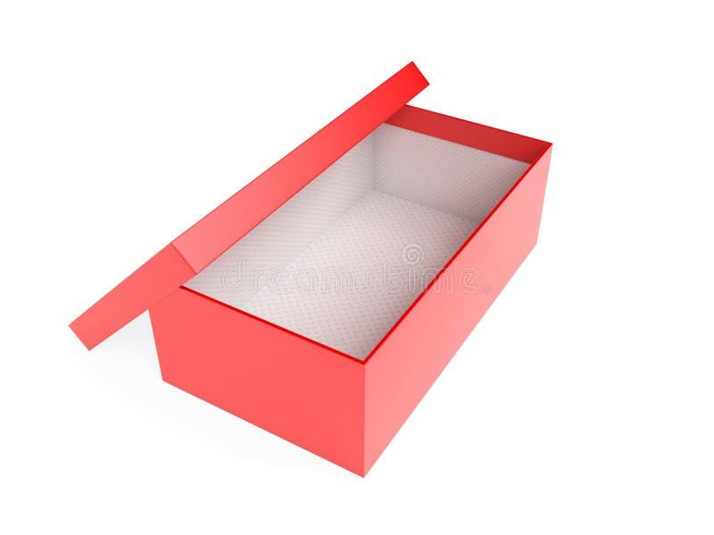 Красная пустая коробка ботинка r иллюстрация вектора