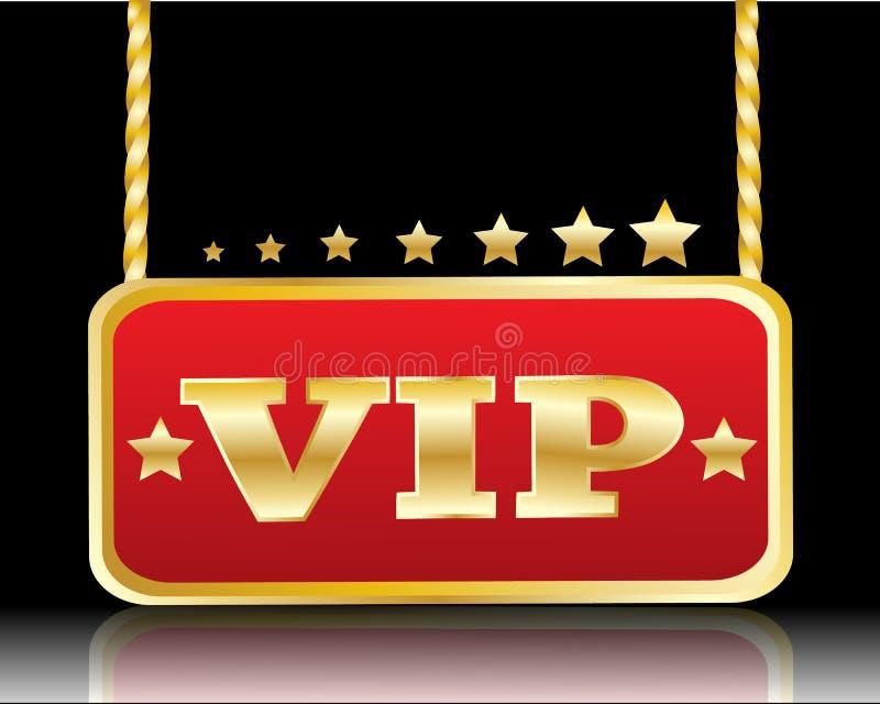 Красная плита с изображением звезд и слов VIP бесплатная иллюстрация