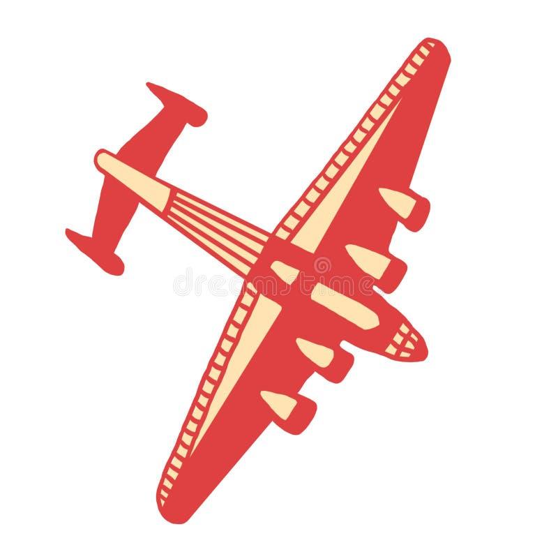Красная плоскость стоковое фото rf