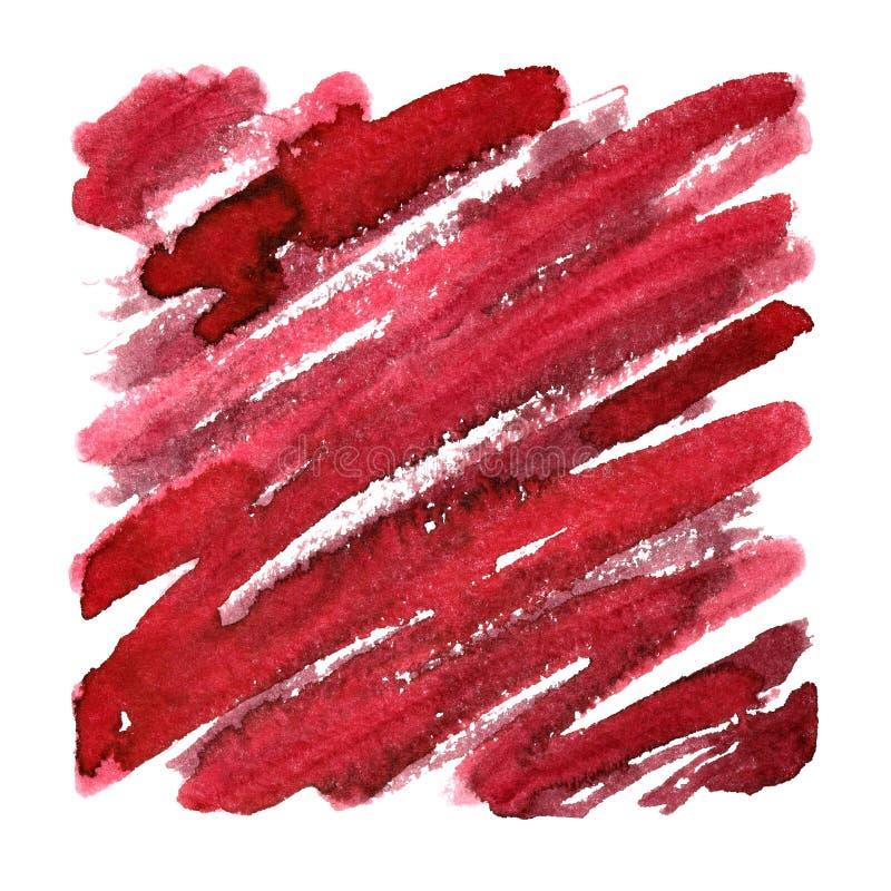 Красная площадь с выразительными ходами щетки иллюстрация штока