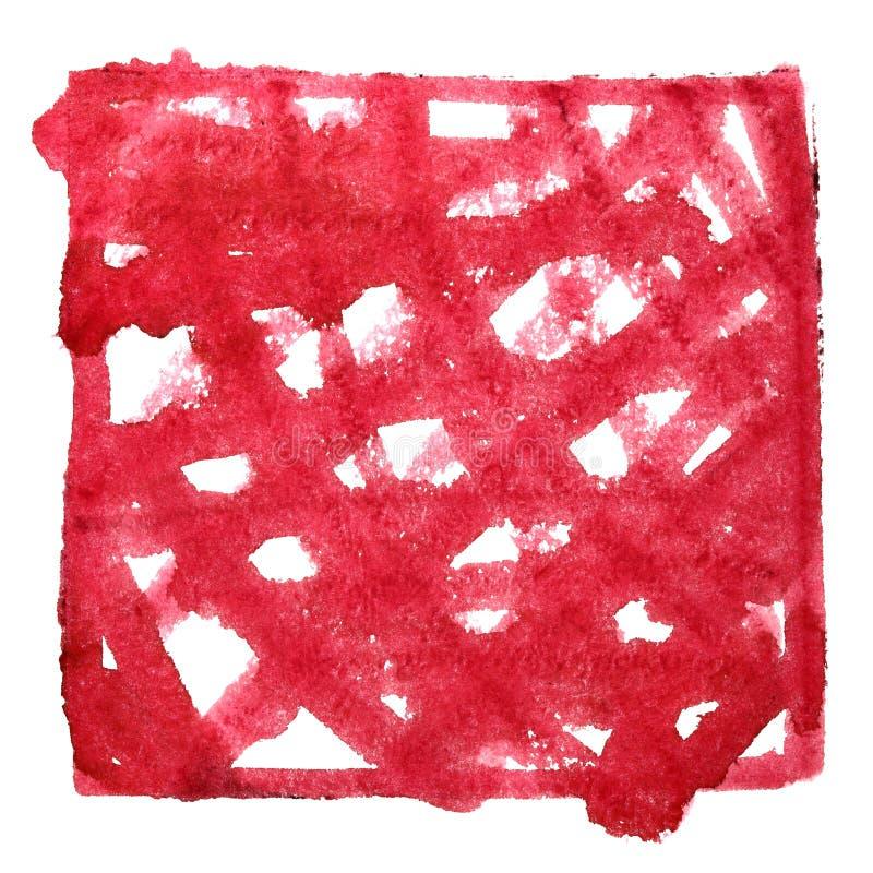 Красная рамка с doodle иллюстрация вектора