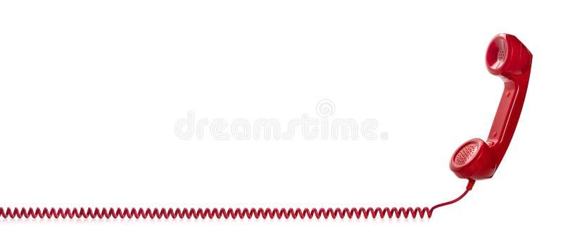 Красная ретро телефонная трубка стоковое фото rf