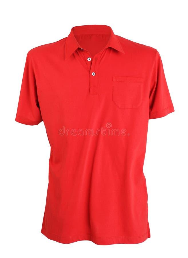 Красная рубашка поло стоковое фото rf