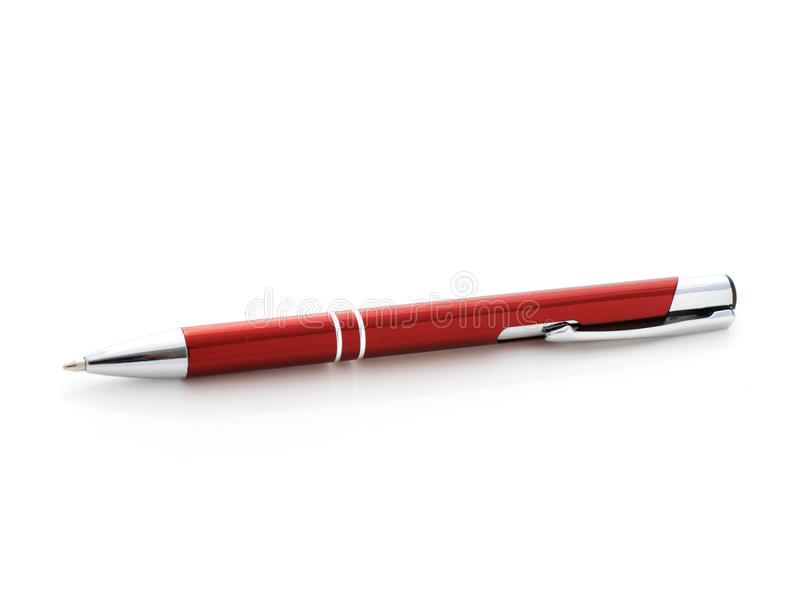 Красная ручка. стоковые фото