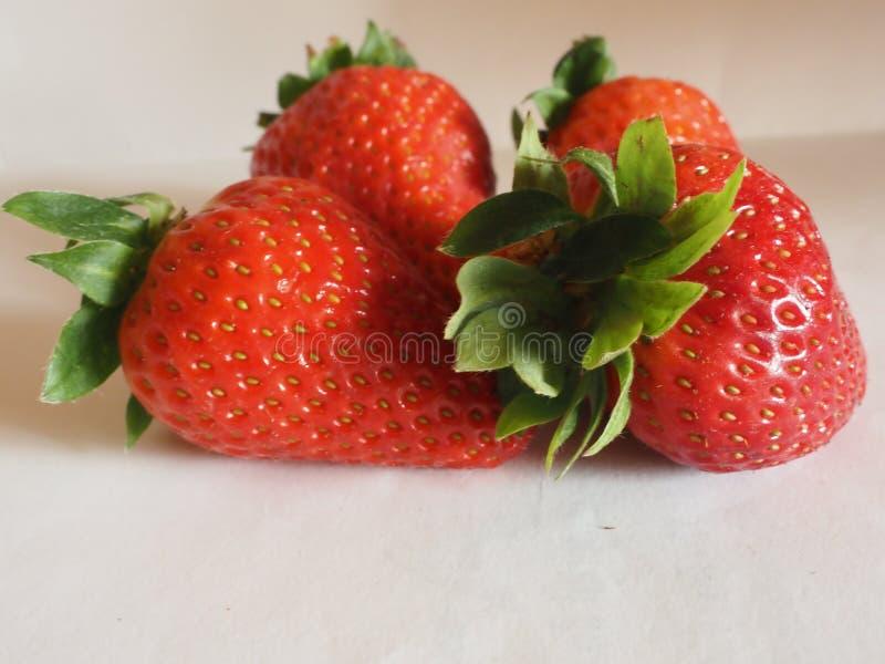 Красная свежая клубника стоковые фотографии rf