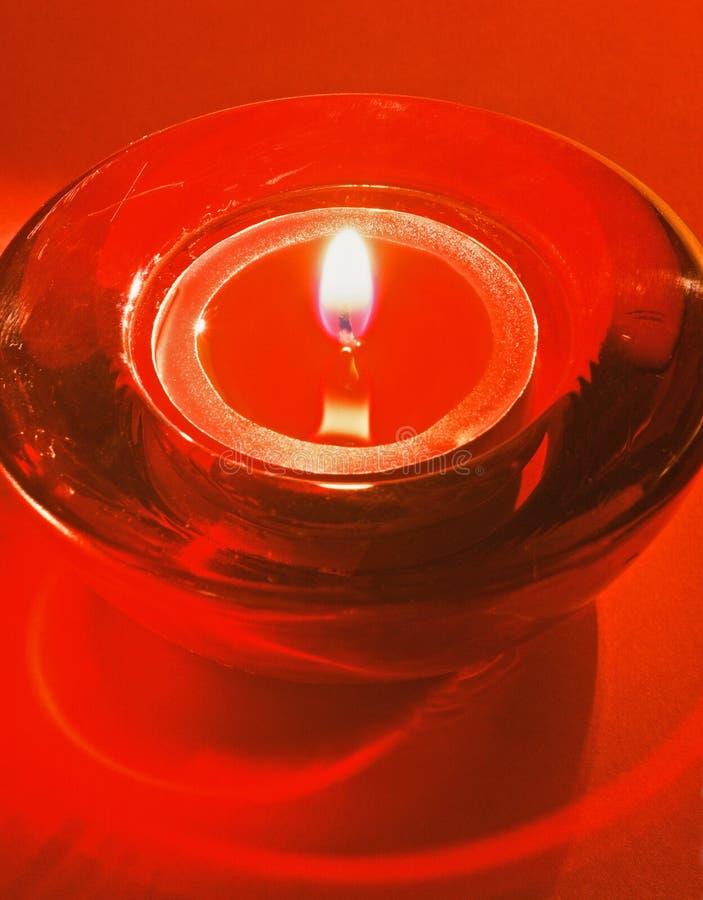 Красная свеча чая стоковые фото