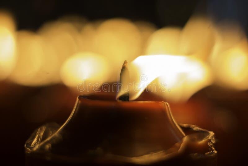 Красная свеча стоковое фото rf