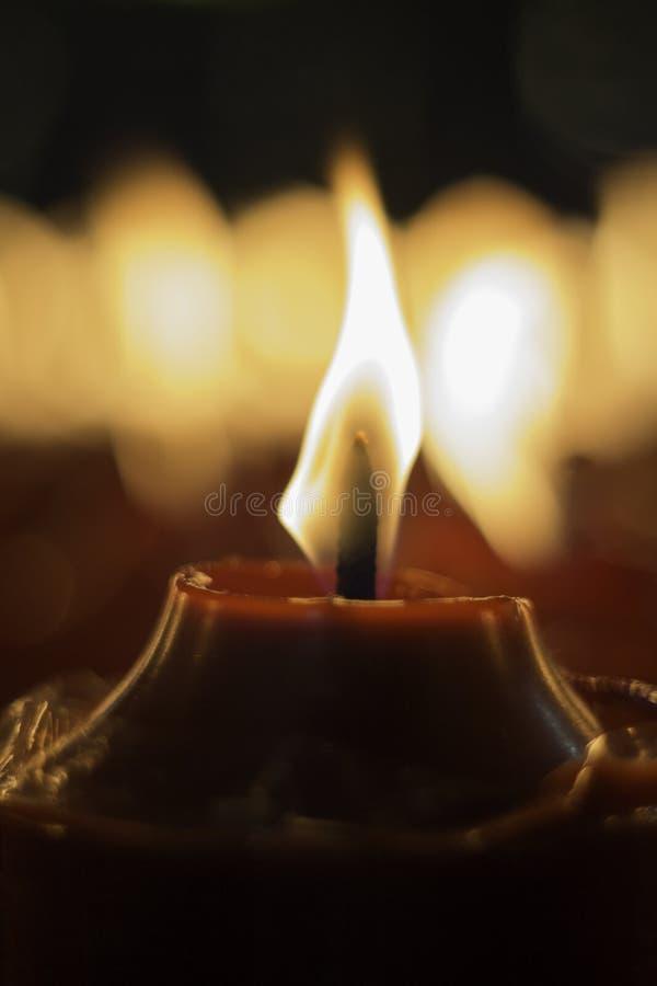 Красная свеча стоковая фотография rf