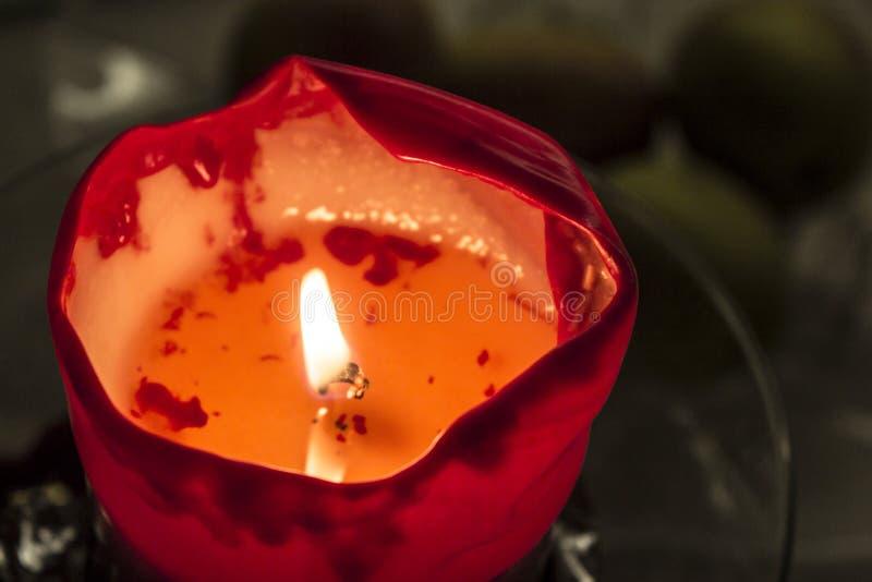 Красная свечка стоковые фото