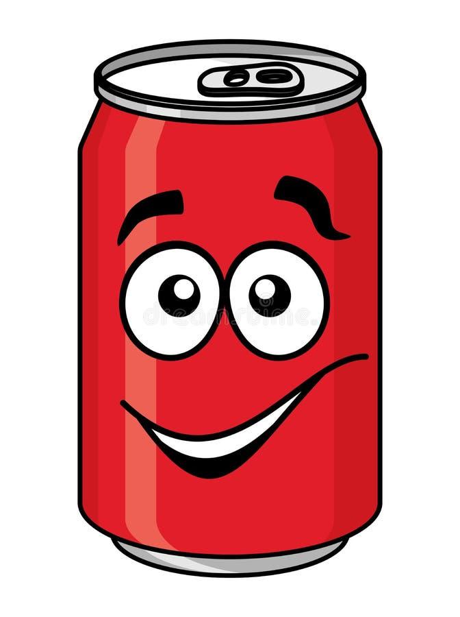 Красная сода шаржа или безалкогольный напиток могут иллюстрация вектора