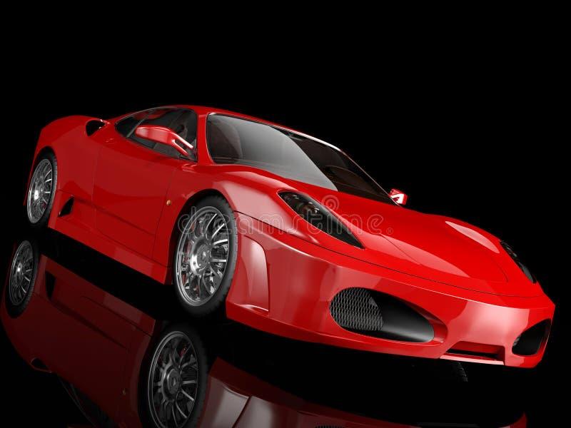 Красная спортивная машина стоковая фотография rf