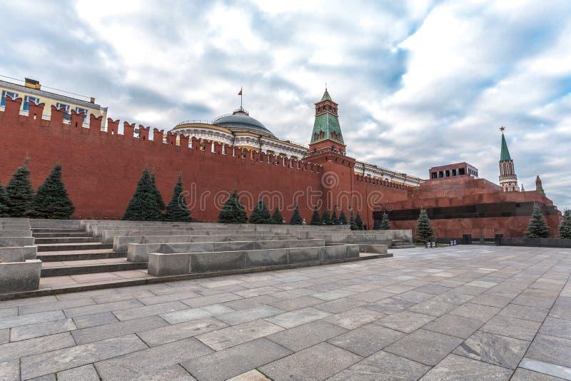 Красная стена Кремля стоковые изображения rf