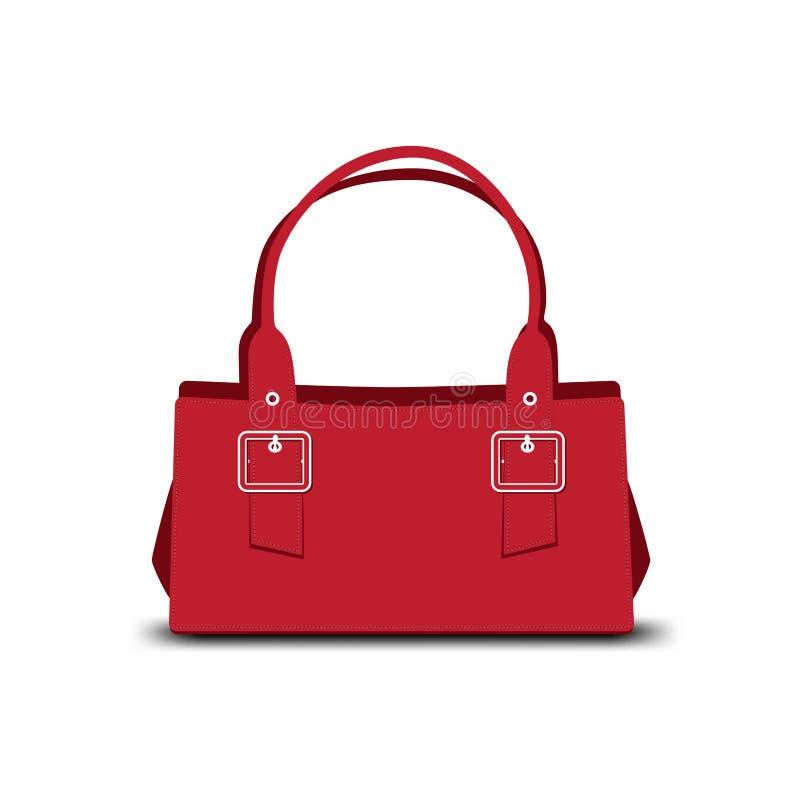 Красная сумка иллюстрация вектора