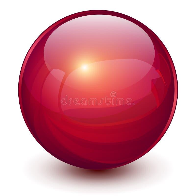 Красная сфера 3D иллюстрация вектора