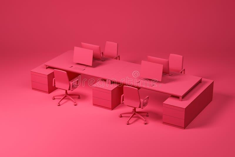 Красная таблица большого компьютера установила на красный цвет бесплатная иллюстрация