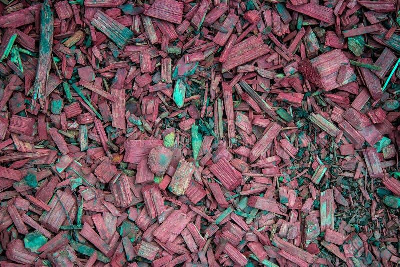 Красная текстура деревянных щепок, деревянная декоративная предпосылка стоковое фото