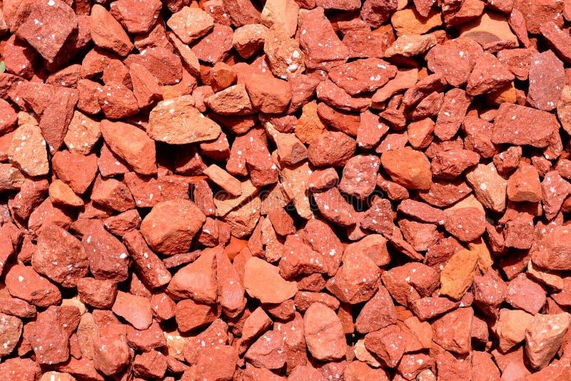 Красная текстура камушков стоковое изображение rf