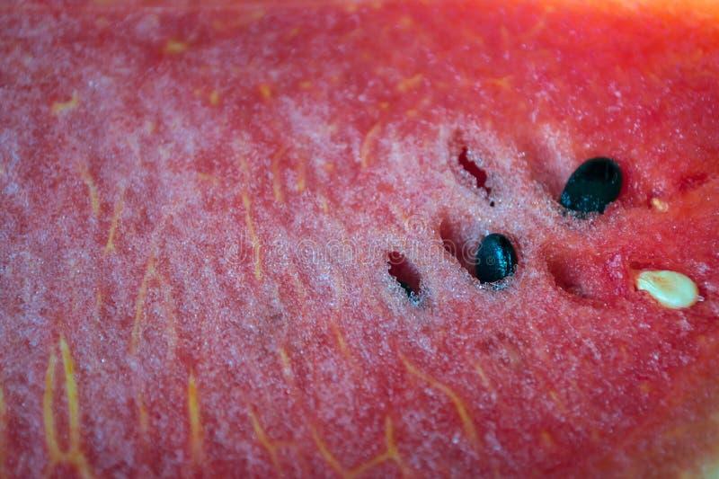 Красная текстура сладостного арбуза стоковое фото