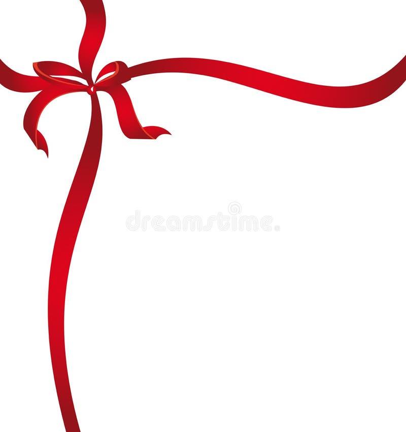 Красная тесемка иллюстрация штока