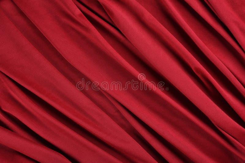 Красная ткань сатинировки Стоковые Фотографии RF