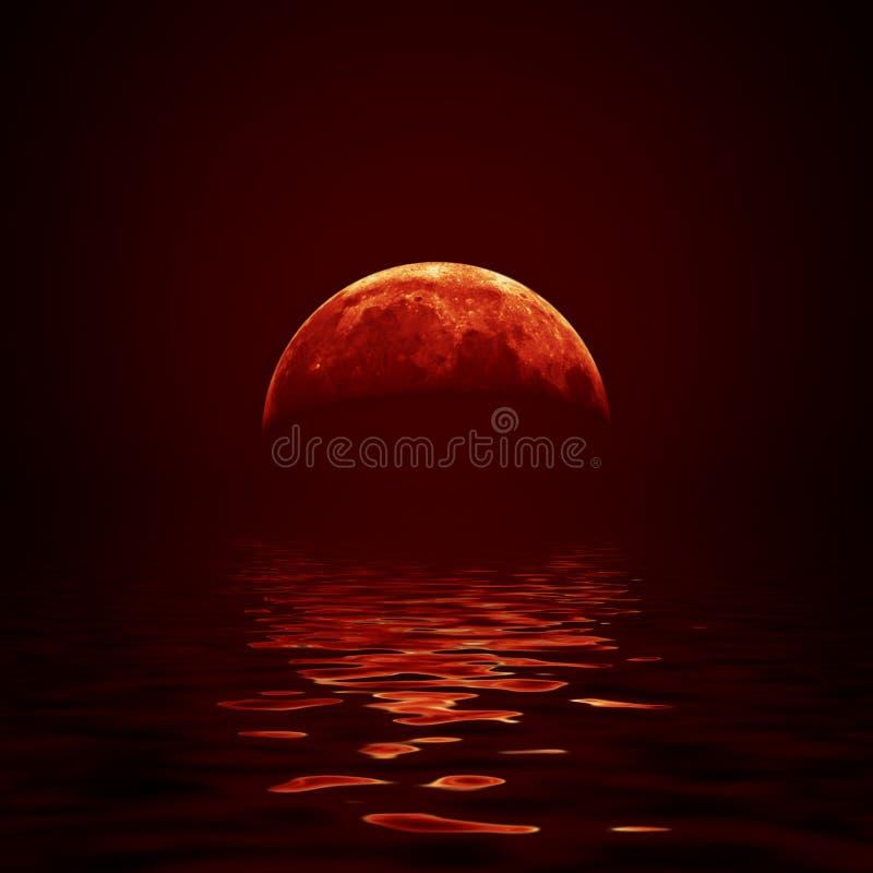 Красная луна бесплатная иллюстрация