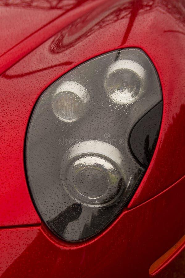 Красная фара стоковая фотография rf