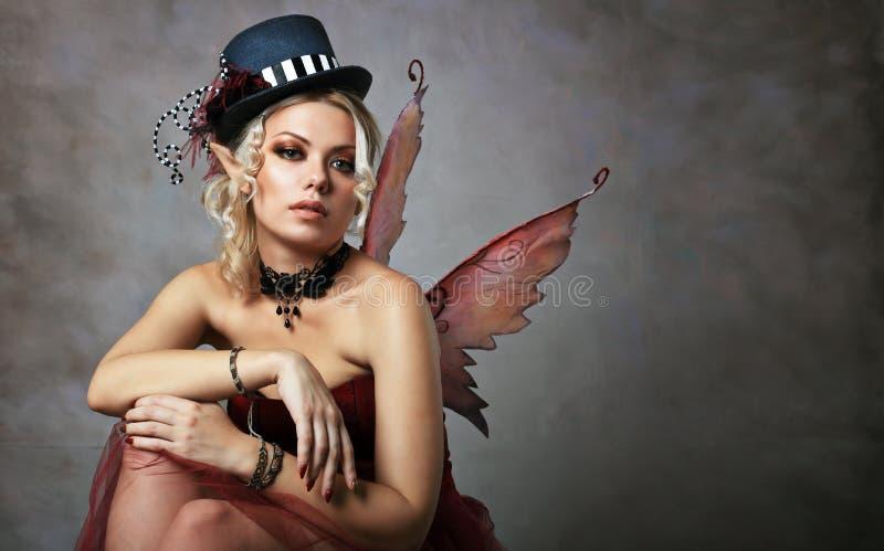 Красная фея эльфа стоковые фотографии rf