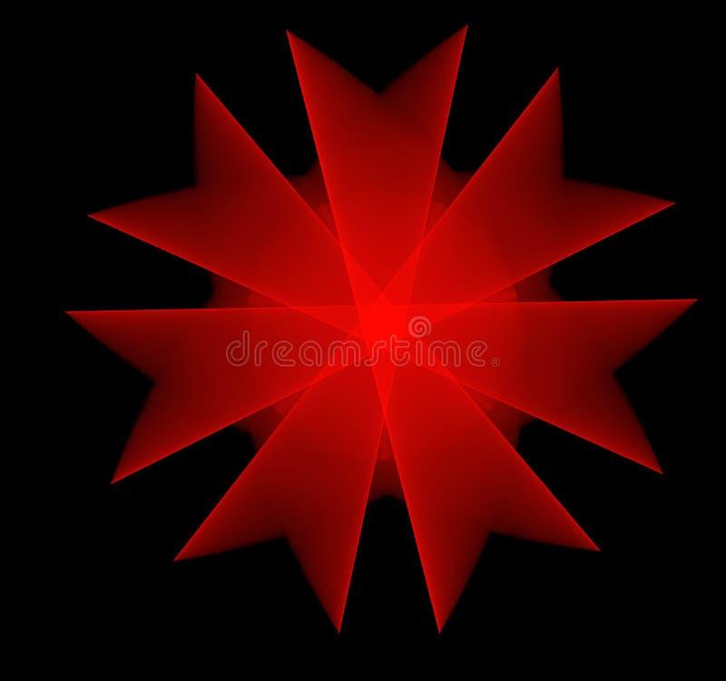 Красная фракталь цветка стоковые фотографии rf