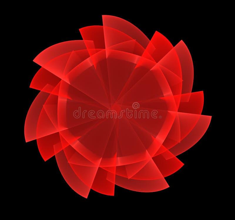 Красная фракталь цветка стоковое фото rf
