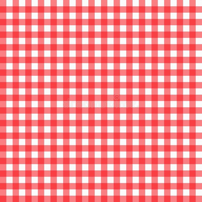 Красная холстинка иллюстрация штока