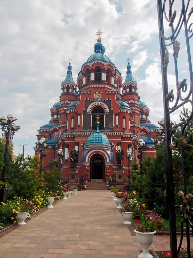 Красная церковь Иркутск Россия Казани стоковые изображения
