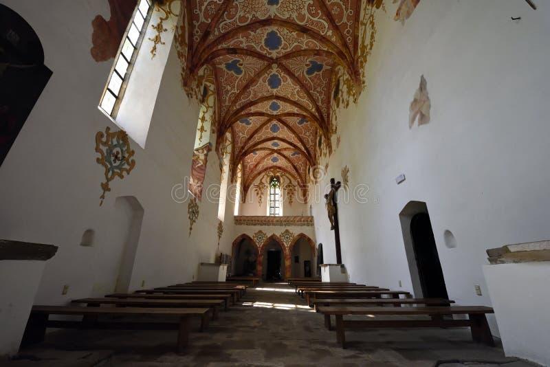 Красная церковь монастыря, зона Spis, Словакия стоковые изображения