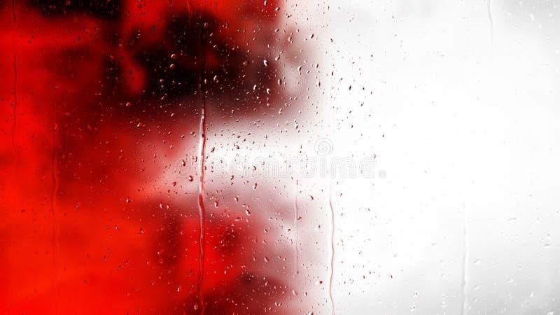 Красная черно-белая вода падает предпосылка иллюстрация штока