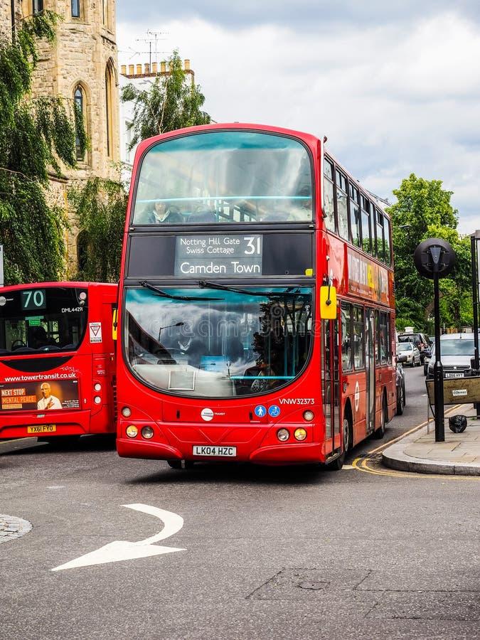 Красная шина в Лондоне (hdr) стоковое изображение