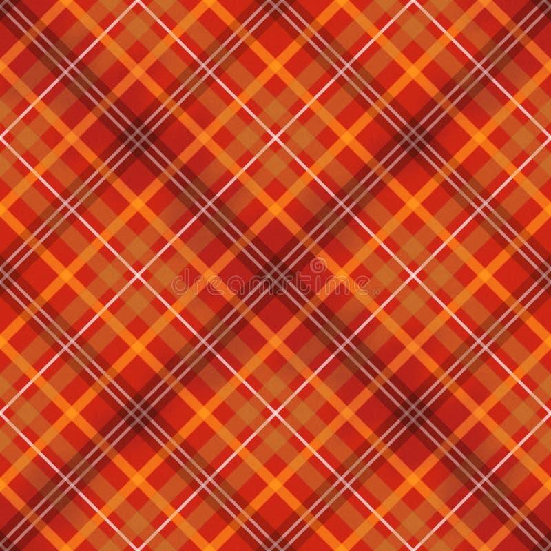 Красная шотландская проверенная картина ткани безшовная иллюстрация вектора