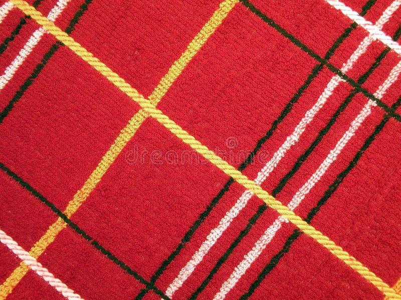 Красная loopy ткань стоковые изображения