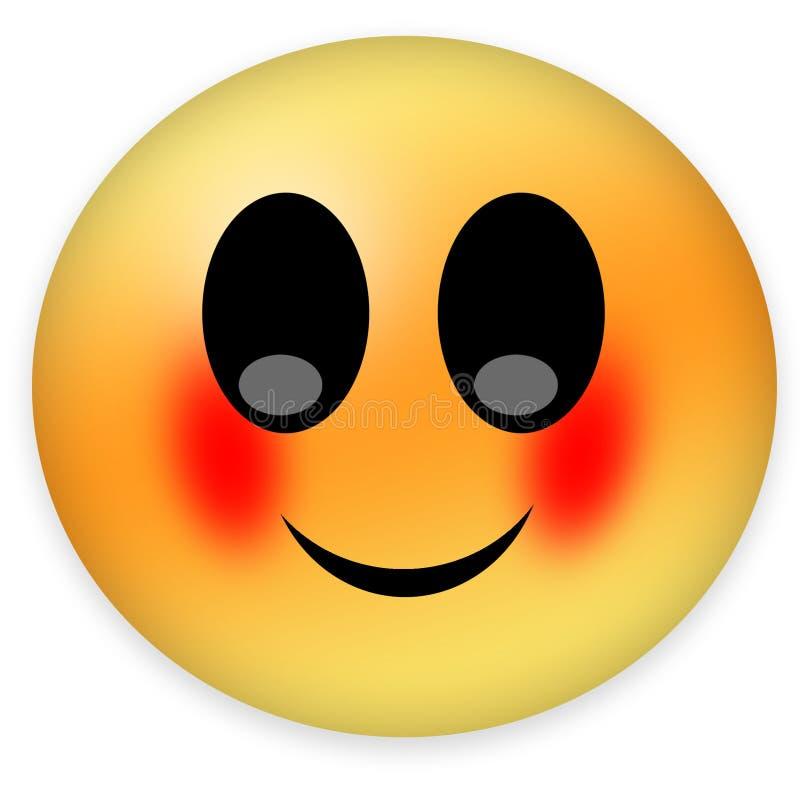 Краснея smiley бесплатная иллюстрация
