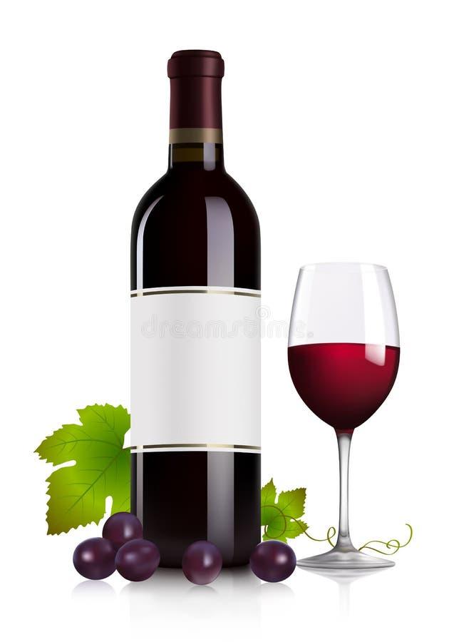 красное вино иллюстрация штока