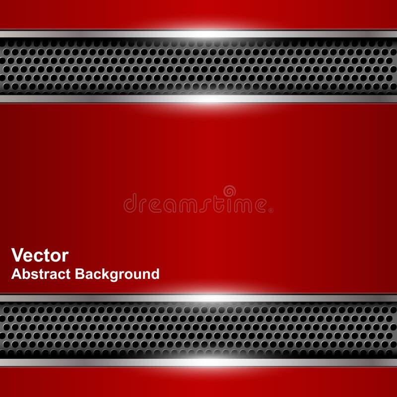 Красное знамя технологической абстрактной предпосылки металлическое иллюстрация штока
