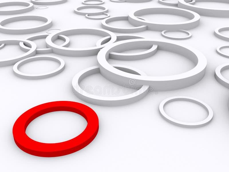 Красное кольцо стоит вне стоковая фотография