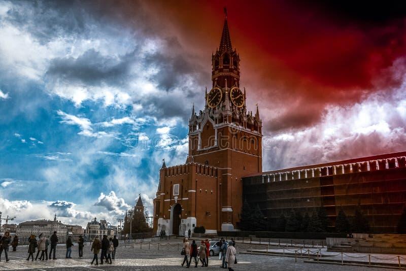Красное кровопролитное облако стоковая фотография rf