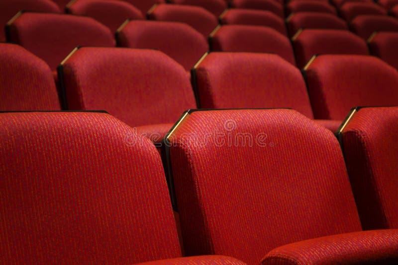 Красное место театра стоковое фото