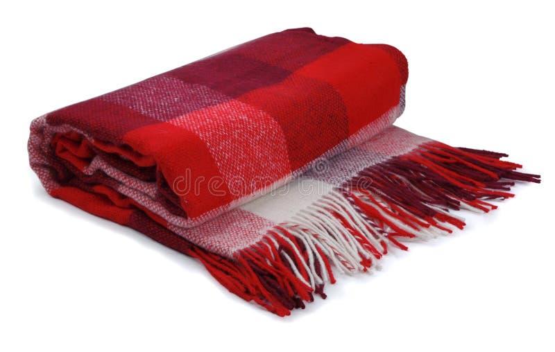 Красное одеяло стоковые фотографии rf