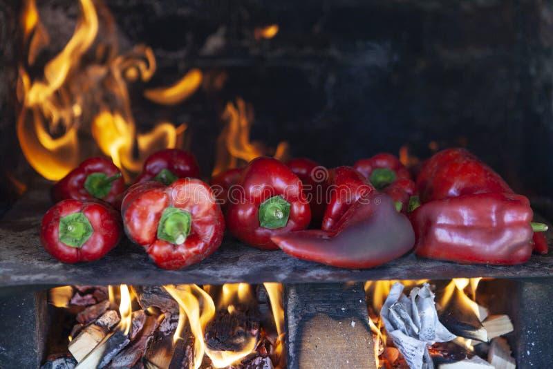 Красное пламя стоковая фотография rf