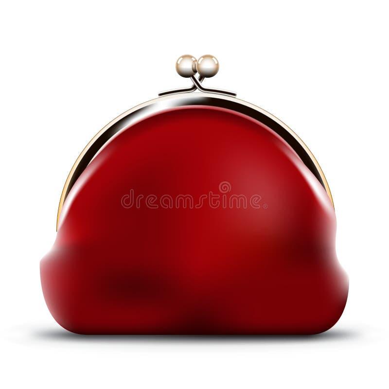 Красное портмоне иллюстрация вектора