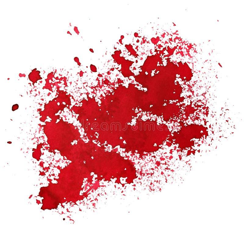 Красное пятно - абстрактная предпосылка иллюстрация штока
